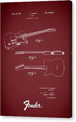 Fender Guitar Patent 1951 Canvas Print by Mark Rogan