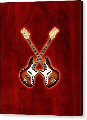 Fender Jazz Bass Lefty Canvas Print by Doron Mafdoos
