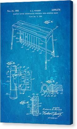 Fender Pedal Steel Patent Art 1958 Blueprint Canvas Print by Ian Monk