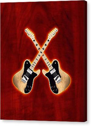 Fender Telecaster Custom Canvas Print by Doron Mafdoos