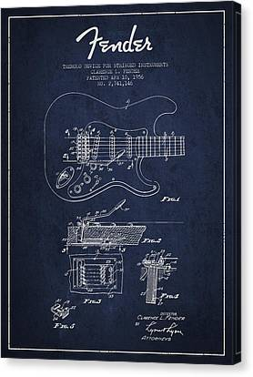 Technical Canvas Print - Fender Tremolo Device Patent Drawing From 1956 by Aged Pixel