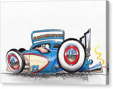 Fenderless Canvas Print by Mike Royal
