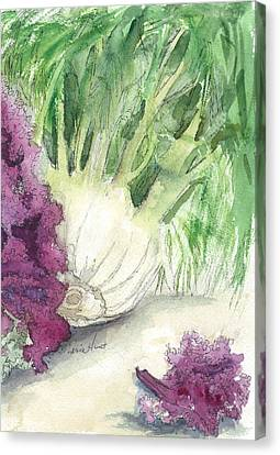 Fennel And Friend Canvas Print by Maria Hunt