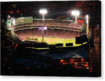 Fenway At Night Canvas Print by James Kirkikis