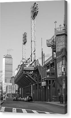 Fenway Black And White Canvas Print by John McGraw