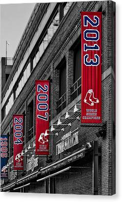 Fenway Boston Red Sox Champions Banners Canvas Print