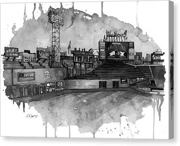 Fenway Bw Canvas Print by Michael  Pattison