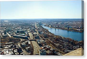 Fenway From The Top Of The Hub Canvas Print by Michelle Wiarda
