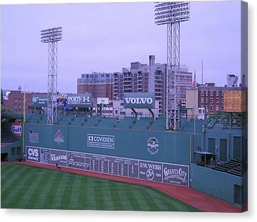 Fenway Left Field Canvas Print by Brian Hoover