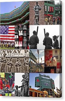 Fenway Memories Canvas Print by Joann Vitali