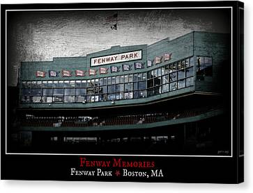 Fenway Memories - Poster 1 Canvas Print