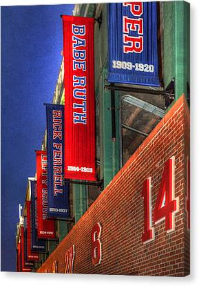 Fenway Park 001 Canvas Print by Jeff Stallard