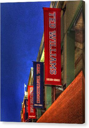Fenway Park 002 Canvas Print by Jeff Stallard