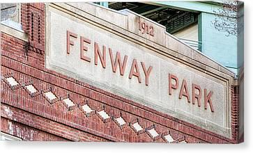 New Ball Park Canvas Print - Fenway Park 1912 by Susan Candelario