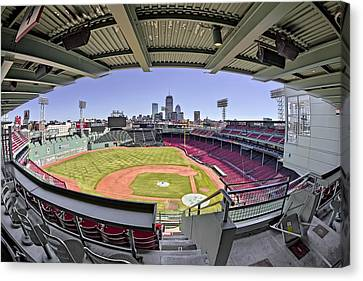 Fenway Park And Boston Skyline Canvas Print