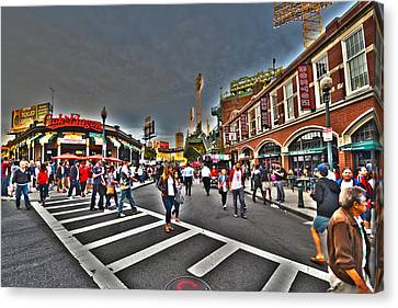 Fenway Park And Cask And Flagon Canvas Print by Toby McGuire
