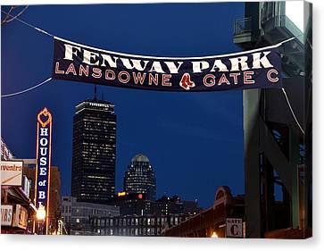 Fenway Park Banner Canvas Print