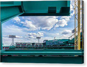 Fenway Park From The Green Monster Canvas Print by Tom Gort