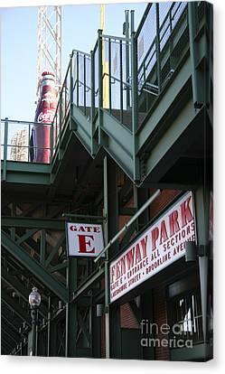 Fenway Park Gate E Canvas Print by David Leiman