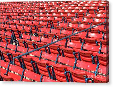 Fenway Park Grandstand Seats I Canvas Print by Clarence Holmes