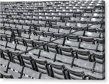Fenway Park Grandstand Seats II Canvas Print by Clarence Holmes