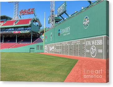 Baseball Park Canvas Print - Fenway Park Green Monster I by Clarence Holmes