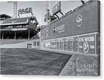 Baseball Park Canvas Print - Fenway Park Green Monster II by Clarence Holmes