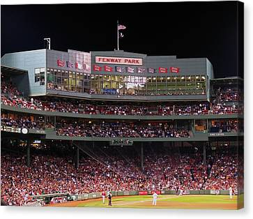 Building Canvas Print - Fenway Park by Juergen Roth