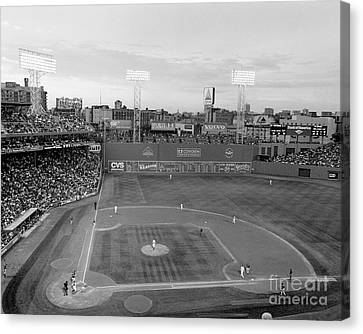 Fenway Park Photo - Black And White Canvas Print