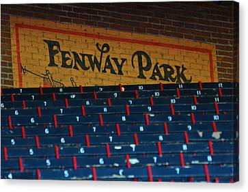Fenway Park Sign And Seats Canvas Print by Toby McGuire