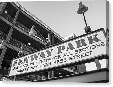 Fenway Park Sign Canvas Print by John McGraw