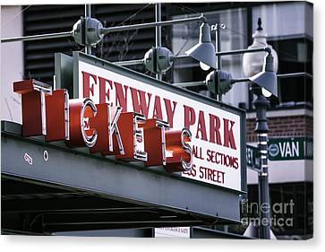 Fenway Tickets Canvas Print by Jerry Fornarotto