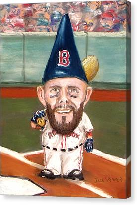 Canvas Print - Fenway's Garden Gnome by Jack Skinner