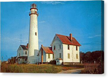 Fenwick Island Lighthouse 1950 Canvas Print by Skip Willits