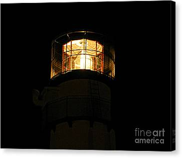 Fenwick Island Lighthouse At Night Canvas Print by William Fuhrer