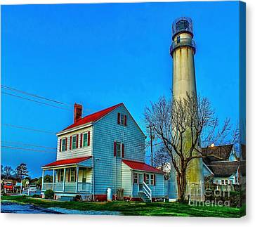 Fenwick Island Lighthouse Canvas Print by Nick Zelinsky