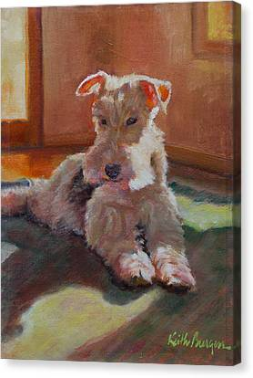 Fox Terrier Canvas Print - Fergie by Keith Burgess