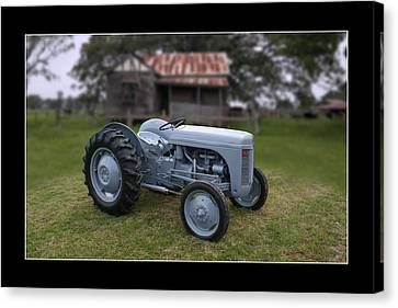 Canvas Print featuring the photograph Fergie Tractor by Keith Hawley
