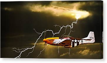 Bolts Canvas Print - Ferocious Frankie In A Storm by Meirion Matthias