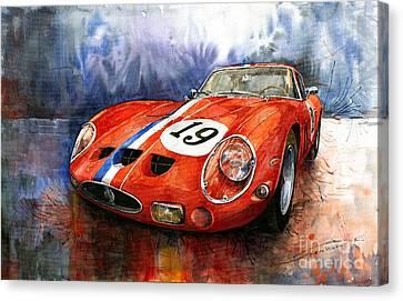 Red Ferrari Canvas Print - Ferrari 250 Gto 1963 by Yuriy  Shevchuk