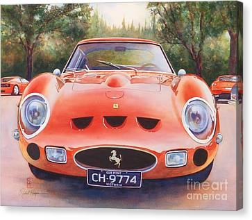 Ferrari 250 Gto Canvas Print by Robert Hooper