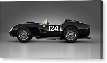 Ferrari 250 Testa Rossa - Rosette Canvas Print by Marc Orphanos