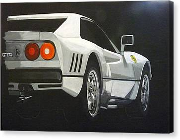 Canvas Print featuring the painting Ferrari 288 Gto by Richard Le Page