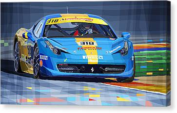 2012 Ferrari 458 Challenge Team Ukraine 2012 Canvas Print