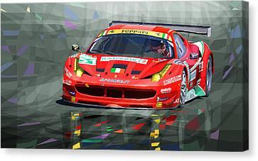 2012 Ferrari 458 Gtc Af Corse Canvas Print