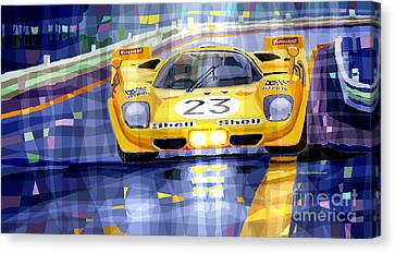 Ferrari 512 S Spa 1970 Derek Bell  Canvas Print
