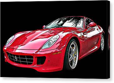 Sheats Canvas Print - Ferrari 599 Gtb Fiorano by Samuel Sheats