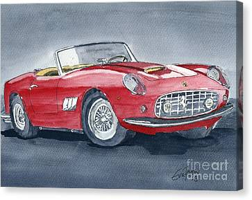 Canvas Print featuring the painting Ferrari 62   250 Gt by Eva Ason