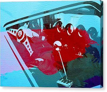 Ferrari Cockpit Canvas Print by Naxart Studio