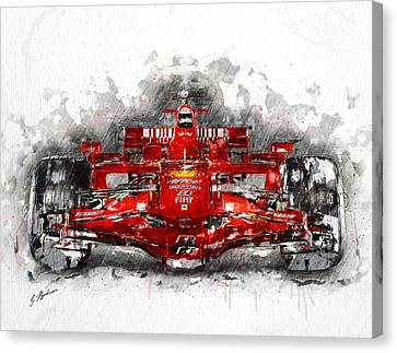 Ferrari F1 Canvas Print by Gary Bodnar